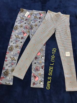 New Girls leggings bottoms size L (10-12) (Nuevos). for Sale in Palmdale, CA