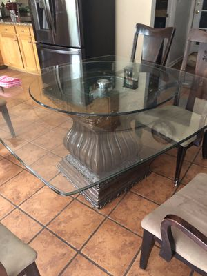 Kitchen table (glass) for Sale in Charlotte, NC