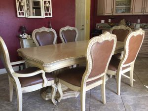 Kitchen Table with Six Chairs for Sale in Fresno, CA