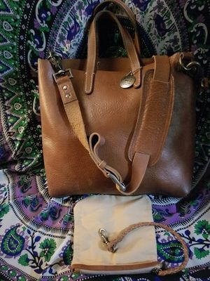 Genuine heavy leather tote bag. Never used only stored in a smoke free home. for Sale in Calumet City, IL