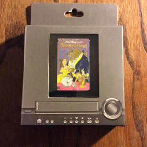 Beauty and the Beast Disney Pin VHS Cassette LE Limited Edition 1500 Disneyland Walt Disney World DL WDW Belle for Sale in Orange, CA