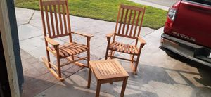 Costway 3 pcs rocking chairs with coffee table for Sale in Bakersfield, CA