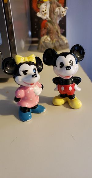 Vintage Mickey Mouse & Minnie Mouse Small Figurines for Sale in Plymouth, MI