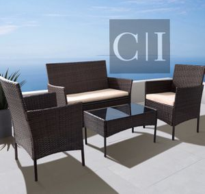 Brand New! 4 Piece Brown Patio Outdoor Balcony Furniture Set for Sale in Orlando, FL
