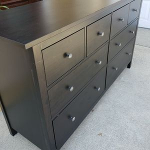 Ikea Black Hemnes 8 Drawers Drawer Dresser Chest Clothes Storage Stand Unit Cabinet Organizer for Sale in East Los Angeles, CA