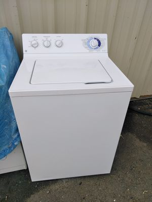 Large white GE washer pick up today for $80 for Sale in Winston-Salem, NC