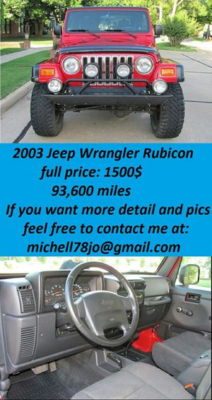 2003*JeepWranglerRubicon*LowMiless for Sale in New York, NY