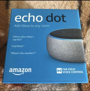 NEW Amazon echo dot for Sale in Chino, CA
