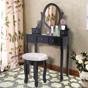 New Black Vanity/ make up mirror desk for Sale in Los Angeles, CA