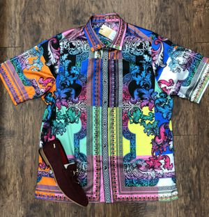 Shirts multicolored Versace similar print for Sale in Los Angeles, CA
