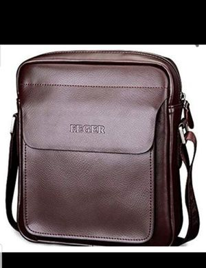Men's Genuine Leather Shoulder Bag Handmade Messenger Briefcase Crossbody Handbag Ipad Bag (Brown) New for Sale in Silver Spring, MD