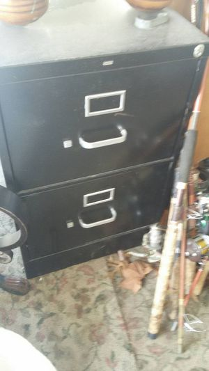 Black Filing Cabinet, Metal, 2 Drawers for Sale in Sapulpa, OK