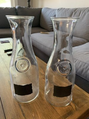 Glass Carafes a/ chalk labels for Sale in Chicago, IL