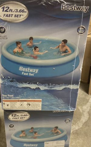 Bestway 12 x 30 Fast Set Inflatable Above Ground Pool *NO CARTRIDGE FILTER PUMP* for Sale in Winter Park, FL