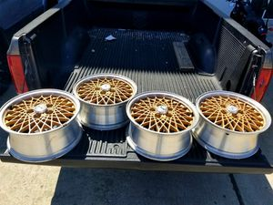 Gold coated ABS rims 7.0x16 must sell fast for Sale in Spring, TX