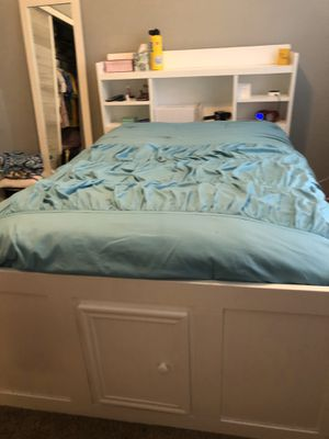 Full Size White Captains Bed for Sale in Peoria, AZ