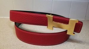 Hermès Reversible Red/ Black Gold OR Silver Buckle Leather Belt Authentic for Sale in Queens, NY