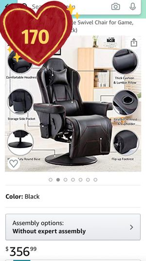 Brand New!Reclining Gaming Chair, Professional Massage Video Game Chairs with Footrest, Racing Style Heavy-Duty Adjustable Swivel Chair for Game for Sale in Hacienda Heights, CA