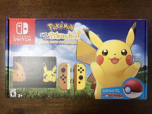 Nintendo - Switch Pikachu & Eevee Edition with Pokémon: Let's Go, Pikachu! + Poké Ball Plus for Sale in Denver, CO