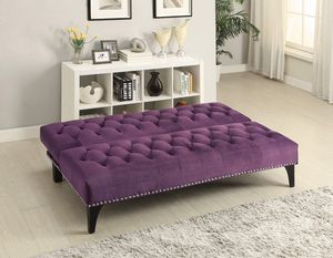 Upholstered FUTON Sofa Bed Purple for Sale in Montclair, CA