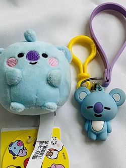 BTS BT21 Line Friends Official Baby Koya Pong Pong Plush Plushie Keyring Keychain NWT for Sale in Silver Spring,  MD