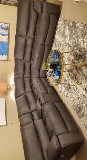 New brown sectional special reclining -Free Delivery) for Sale in Austin, TX