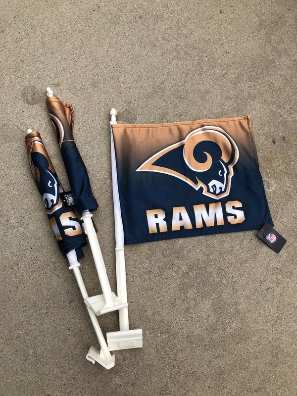 Los Angeles RAMS CAR FLAGS - $10 ONE LEFT