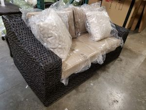 New outdoor patio furniture loveseat sunbrella fabric tax included delivery available for Sale in Hayward, CA