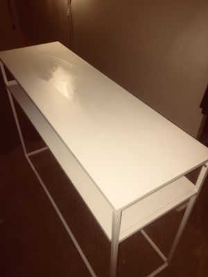 White metal console table for Sale in Austin, TX