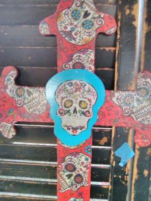 Sugar skull cross for Sale in Sanctuary, TX