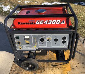 Kawasaki 4300 watt electric generator for Sale in Gobles, MI