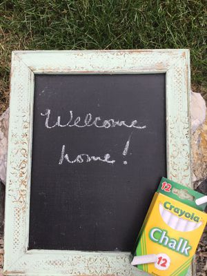 Beautiful vintage chalkboard - mint green and gold tones- with free chalk for Sale in Dover, PA