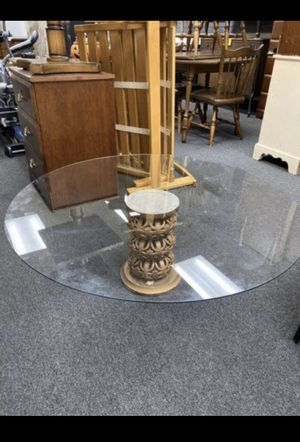 Round Glass Coffee Table for Sale in Chicago, IL