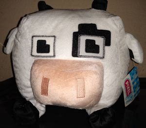 New Pixel Minecraft Cow Pillow, 9in, New, Cow, Minecraft,Gaming, Kids for Sale in Pleasant Grove, UT