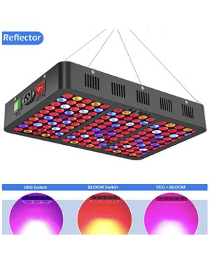 Mieemclux 1500W LED Grow Light with Reflector, Triple-Chips (15W LED) Full Spectrum LED Plant Growing Lamp with Bloom and Veg Switch for All Indoor P for Sale in Lorton, VA