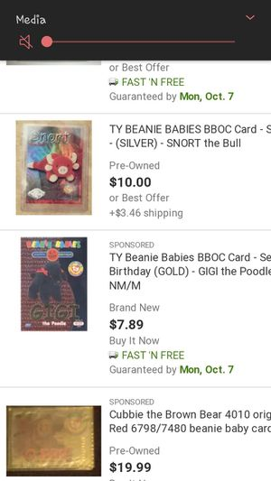Ty beanie baby trading cards for Sale in Phoenix, AZ