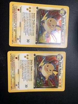 2 dark Raichu 1st edition pokemon cards for Sale in Crowley, TX