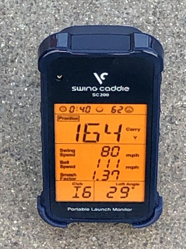 Swingcaddie SC200 voice caddie golf distance swing speed radar
