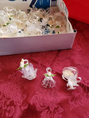 Crystal glass party favors for wedding's for Sale in Riverside, CA