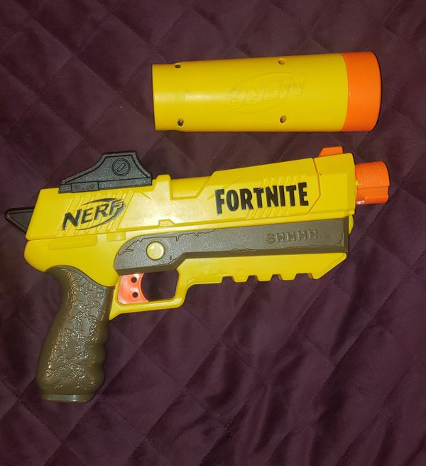 Nerf fortnite gun. It comes with a Suppressor. There are 2 guns and 2 Suppressor.