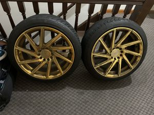 Selling 5x112 18x8.5 F1R F29s with basically brand new summer tyre's super steel 595 225/40zr18 for Sale in Edison, NJ