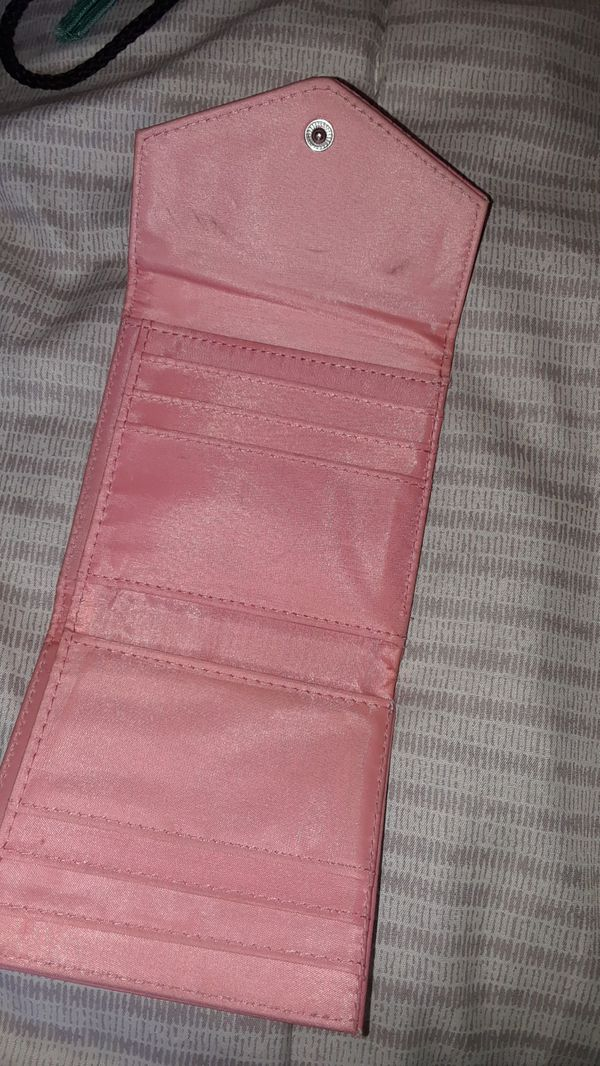 Pink small foldable wallet $3 firm