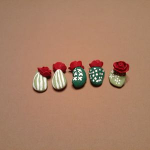 Hand Painted Cactus Rocks for Sale in Gilbert, AZ