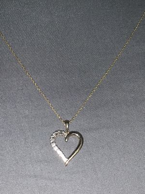 925 Sterling Silver Heart shaped necklace for Sale in Trenton, NJ