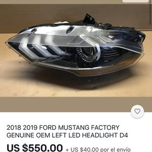 2018 2019 FORD MUSTANG FACTORY GENUINE OEM LEFT LED HEADLIGHT D4 for Sale in Carson, CA