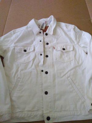 New rare Levi's orange tab denim trucker jacket for Sale in Wheaton, MD