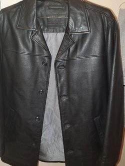 Roundtree & Yorke Mens Genuine Leather Jacket Black Size Medium for Sale in North Las Vegas,  NV