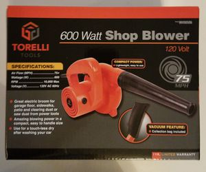 """New, Torelli Shop Blower - Compact and lightweight for RV awnings, sidewalks. """"Pickup in Corona"""" for Sale in Corona, CA"""
