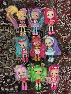 9 Shopkins Shoppies Dolls for Sale in Thousand Oaks, CA