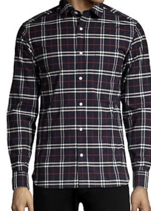 Burberry Men's Alexander Button Down in Navy blue for Sale in Hollywood, FL